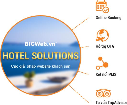 BicWeb - Thiết kế website Khách sạn chuyên nghiệp