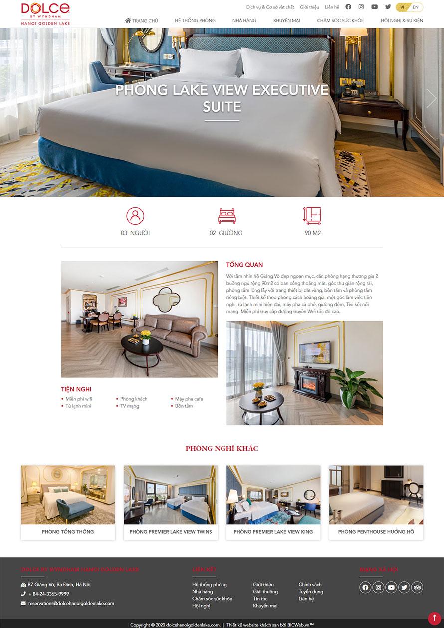 Hình ảnh trang chi tiết phòng nghỉ